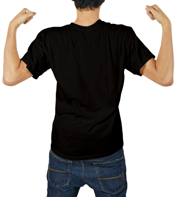 Male Tshirt Mockups Back_Black